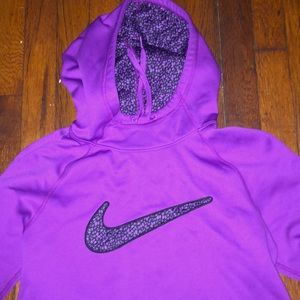 Nike hooded sweatshirt therma-fit pink small